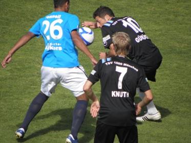Die kleinen Löwen in Stuttgart bei den Kickers.