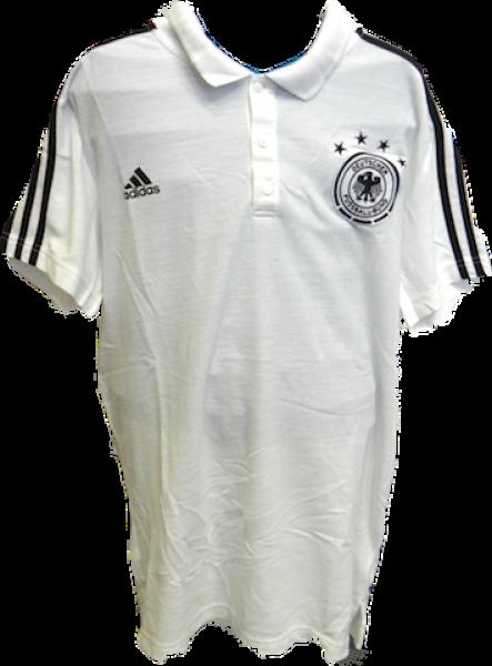 ein paar Tage entfernt Markenqualität Turnschuhe für billige DFB-Poloshirt von adidas, weiß mit schwarzen Streifen, Größe L